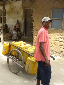The delivery of water in Bagamoyo Old Town